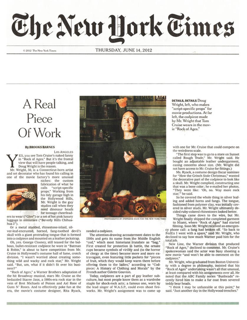 Douglas Wright in NY Times